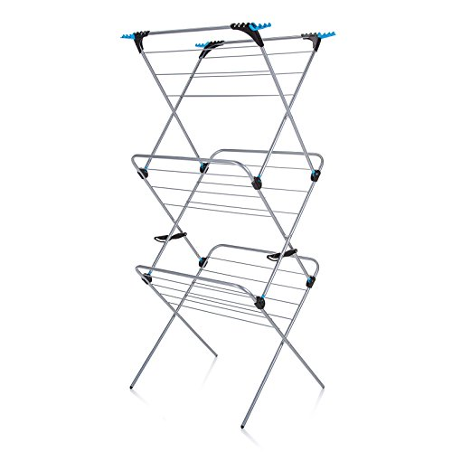 Minky 3-Tier Trio Concertina Plus Indoor Drying Rack, Silver