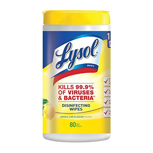 Large Product Image of Lysol Disinfecting Wipes, Lemon & Lime Blossom, 320ct (4x80ct)