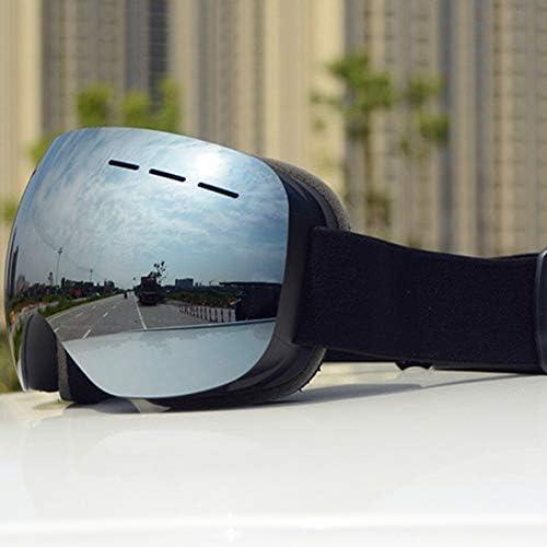 CUHAWUDBA Sports de Plein Air /éQuitation Cross-Country Masque Goggles Double Anti-Bu/éE Coupe-Vent Masque de Ski Lunettes de Ski Unisexe Snow Snowboard Masque de Ski Cadre Noir Mercury Lens