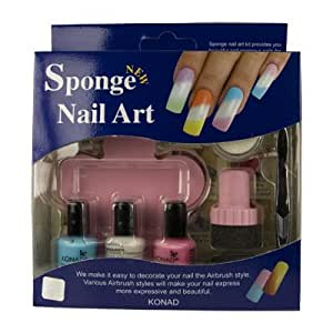 amazoncom konad sponge nail art kit 03 nail art