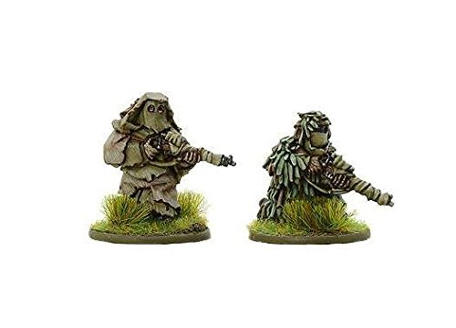 Warlord Games, British Snipers in Ghillie suits, Bolt Action Wargaming Miniatures