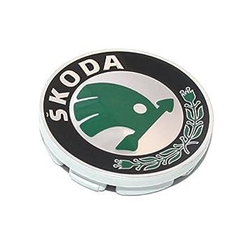 Skoda 6U0601151LMHB - Tapa Ornamental para Tapacubo, Llantas de aleación: Amazon.es: Coche y moto