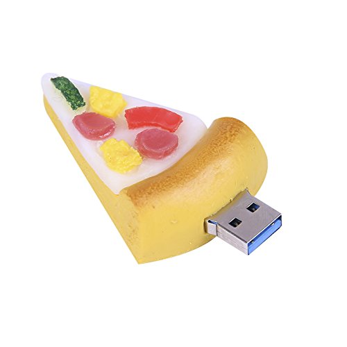 HDE USB Flash Drive 16GB USB 3.0 Storage Device Novelty Food Shaped Drive for Desktop and Laptop Computers (16 GB, Pizza Slice)