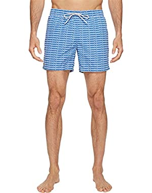 Mens All Over Lacoste Print Short Length