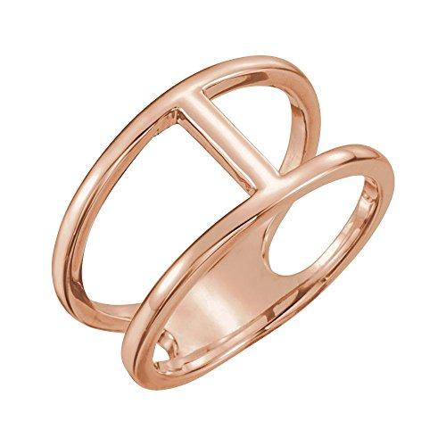 rings, 14K Rose Negative Space Ring