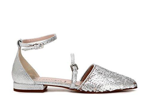 Cafè Noir KEC916 Shoes 2 Pieces in Paillettes and Laminated Leather 204 Argento vTf9l