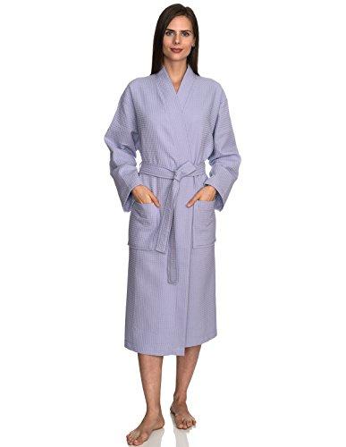 TowelSelections Turkish Bathrobe Waffle Kimono Robe for Women and Men Small/Medium Purple Heather