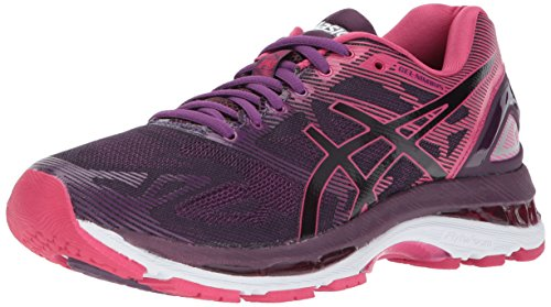 ASICS Womens Gel-Nimbus 19 Running Shoe, Black/Cosmo Pink/Winter Bloom, 6.5 Medium US