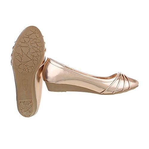 Ital-Design - Plataforma Mujer Rosa Gold