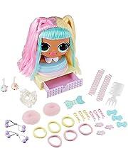 LOL Surprise OMG Styling Head- Candylicious, smink- och frisörhuvud med högkvalitativt hår, förvaringsfack och 15 tillbehör