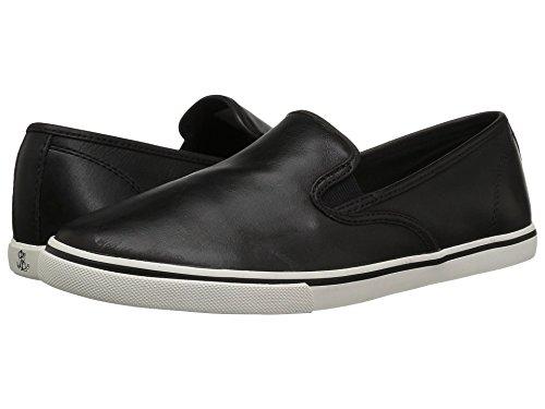 有害な問い合わせる絶望的な[LAUREN Ralph Lauren(ローレンラルフローレン)] レディースウォーキングシューズ?カジュアルスニーカー?靴 Janis Leather Black Super Soft Leather 6.5 (23.5cm) B - Medium