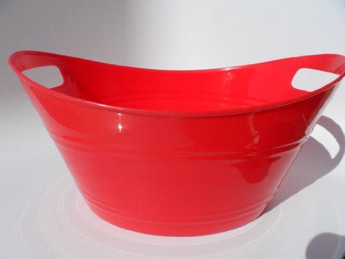 RED Plastic Storage Tub (Top rim 12.5