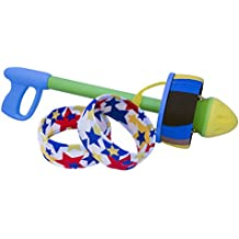 HurriK9 100+ Foot Flying Ring Launcher For Dogs (Starter Pack Extra Tough, Launcher + 3 Extra Tough Spandex Rings)