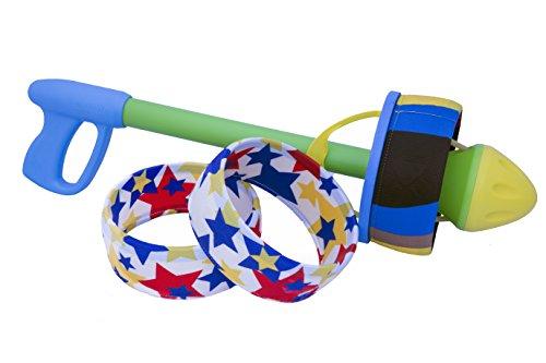 (HurriK9 - Flying Ring Launcher for Dogs (Starter Pack - Launcher + 3 Extra Tough Spandex Rings))