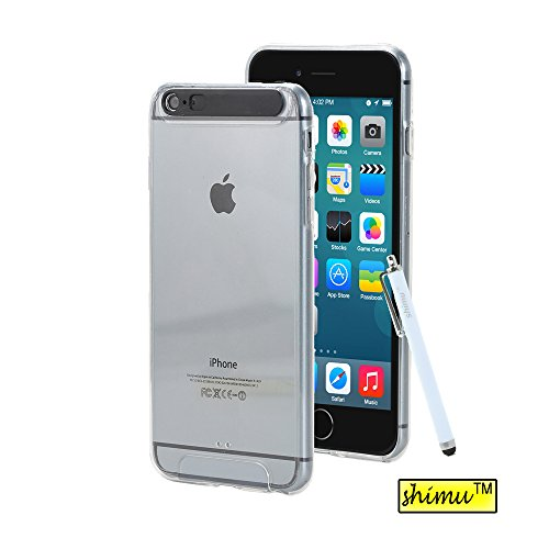 iPhone 6 Plus Case,6 Plus Case Incoming Call Flash LED Ultra Slim Soft Plastic Back Cover Case By Shimu For iPhone 6 Plus(5.5 Inch)Clear
