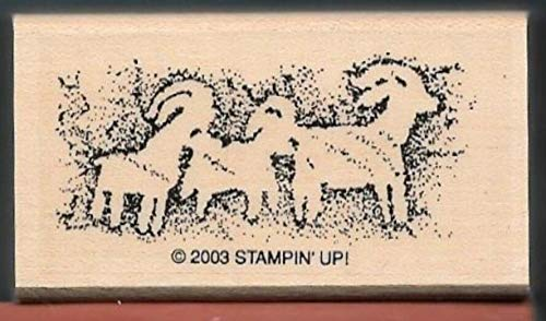 Rubber Stamp Frames RAM Longhorn Sheep Cave Drawing Prehistoric Painting New Rubber Stamp ()