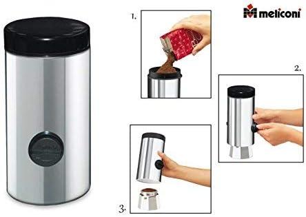 Meliconi - Dosificador de café automático, de acero inoxidable ...