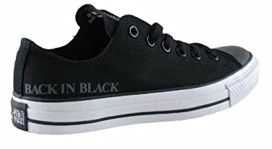 cheaper 3d007 c735b CONVERSE OX ACDC BACK IN BLACK BLACK - SIZE - 12
