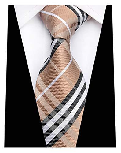 e632dfa32c84 MENDENG New Classic Plaids Check Baby Blue Jacquard Woven Silk Men's Tie  Necktie