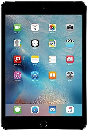 Apple iPad Mini 4 Wi-Fi, 7.9in Retina Display with 2048 x 1536 Resolution, 7.9in Retina Display, A8 Chip, Touch ID, FaceTime, Up to ten Hours of Battery Life - 128GB - Space Gray (Renewed)
