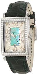 Gevril Women's 7246NV Mini Quartz Avenue of Americas Green Diamond Watch