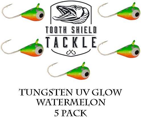 Assorted Tungsten Ice Fishing Jigs 4mm #12 Hook Glow Panfish Walleye 12