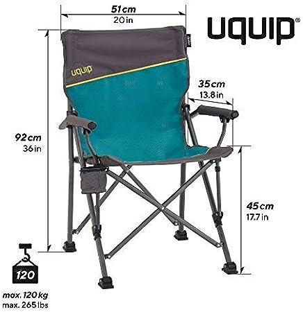 Uquip Bloody, Conjunto de Mesa Aluminio y 2 sillas Plegables, Muebles portátiles para Camping