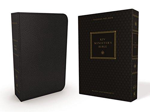 KJV, Minister's Bible, Leathersoft, Black, Comfort Print