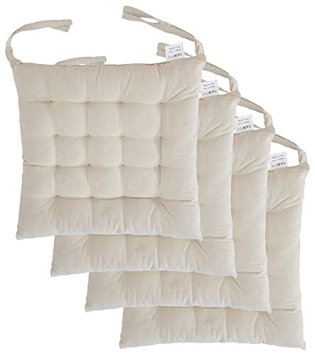 Cottone 100% Cotton Chair Pads w/Ties (Set of 4) | 16