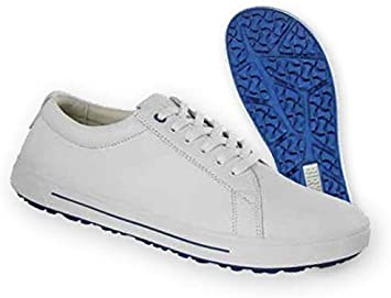 Natural Leather Work Shoe QO 500 White