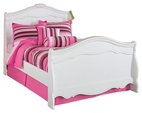 Ashley Full Sleigh Bed - Ashley Furniture Signature Design - Exquisite Youth French Sleigh Bedset - Full Size Bed - White