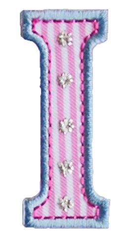 0650f234cfd16 TrickyBoo I 5cm hoch rosa blau Stoff Dekoration Aufnäher Bügelbild  Buchstabe zum Aufbügeln auf Applikationen Annähen