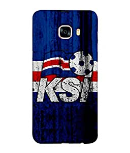 ColorKing Football Iceland 02 Blue shell case cover for Samsung C7