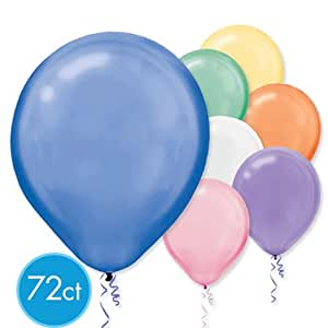 Assorted Pearlized Latex Balloons - Packaged, 72ct