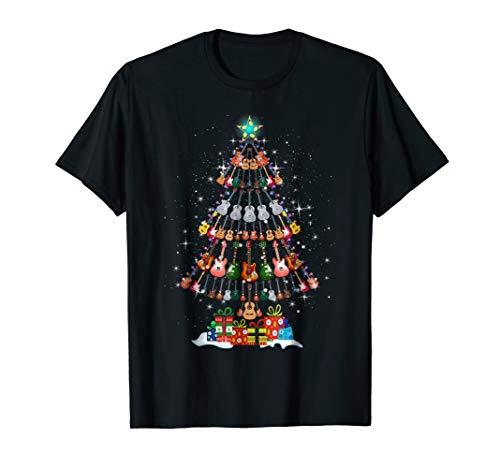 Guitar Christmas Tree T-Shirt Funny Merry Xmas Gifts