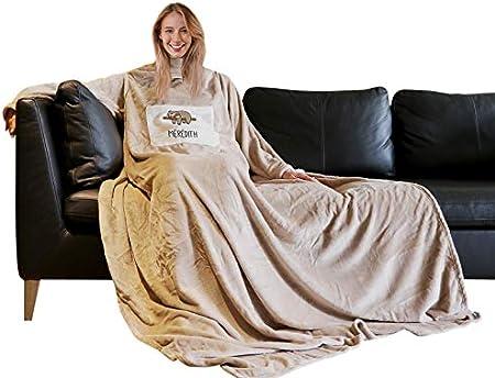 Chaud et Confortable Cadeau Original Plaid /à Manches Tout Doux CADEAUX.COM Couverture /à Manches personnalis/ée par Un Pr/énom