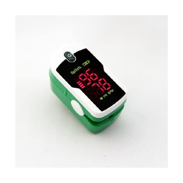 Concord-Jade-Green-Fingertip-Pulse-Oximeter-Blood-Oxygen-Saturation-Monitor-with-Silicon-Cover-Batteries-Carrying-Case-and-Lanyard