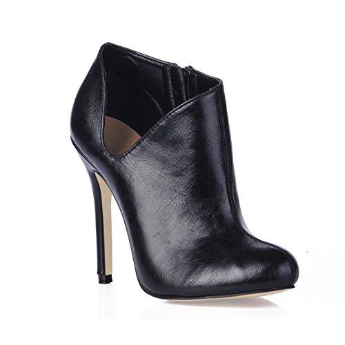 Scarpe alla caviglia e femmina inverno nuovi prodotti OL mercato del lavoro su una terra rosso stivali neri di alta scarpe tacco