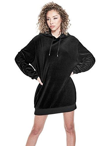 Velour Hooded Dress - 1