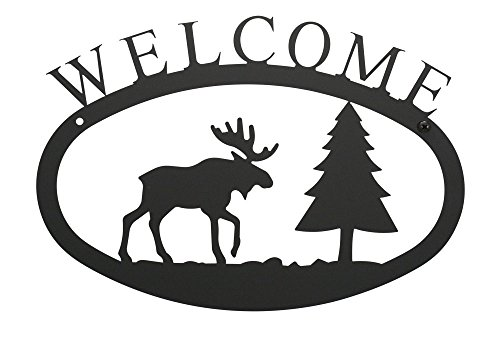 (17.5 Inch Moose and Pine Welcome Sign Large)