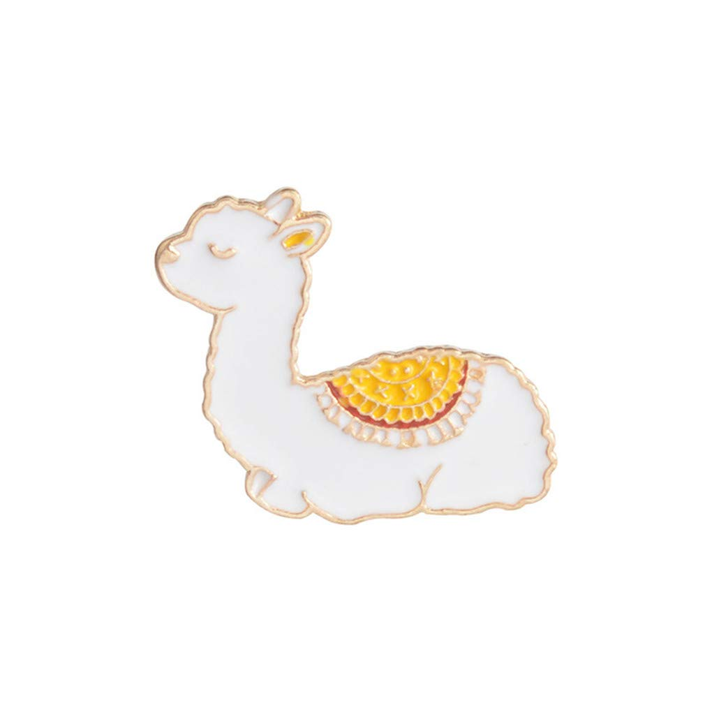Meolin Cartoon Jewelry Alloy Animal Enamel Pins Alpaca Pin Badge Brooches for Clothes Jacket Bag Hat Pins Women Girl Gift