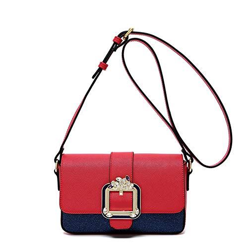 colore mix per nero personalità a le borsetta regolabile donne rosso teenager catena ragazze Borsa blu tracolla con crossbody tracolla spalla a personalità wxIc8gq4