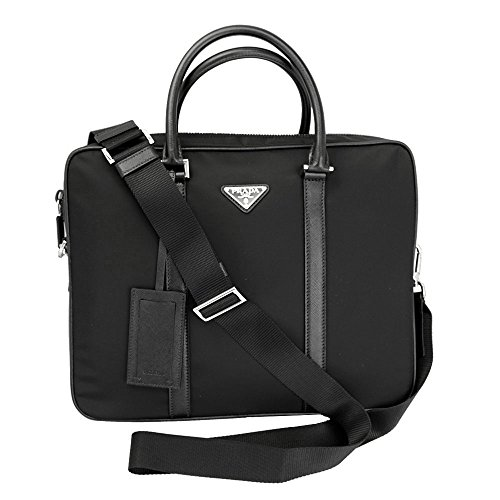 Prada Briefcase Bag (Prada briefcase attaché case laptop pc bag Nylon black)