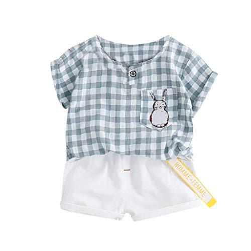 (Rakkiss Kids Clothes Set Cartoon Lion Print T-Shirt+Pants Tracksuit Shorts Outfit Romper Tops)