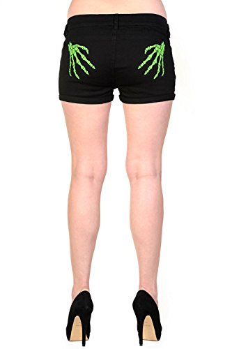 Banned-Skeleton-Green-Hands-Shorts