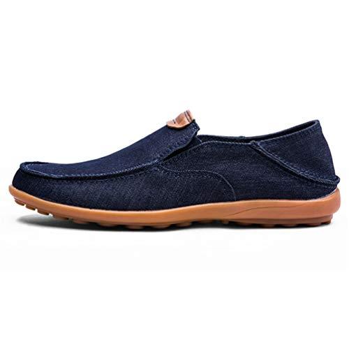 De Hombres Verano Flats Conducción Barco Transpirable Azul Mocasines Zapatos Los Casuales x67ISS