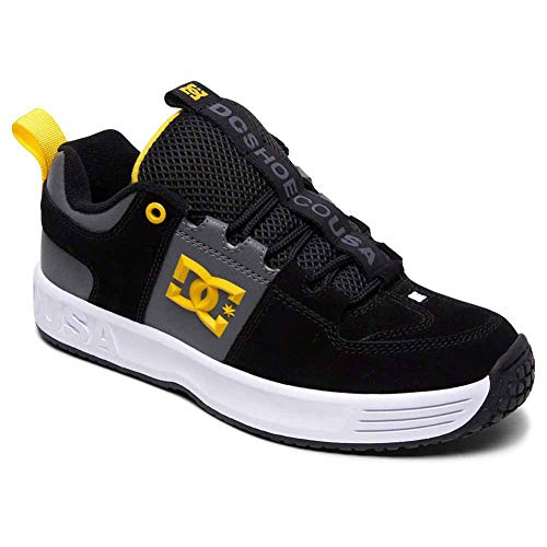 DC Shoes Men's Lynx OG Low Top Sneaker Shoes Black Blk Grey-12.5