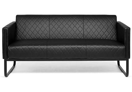 Divano Nero Ecopelle : Lounge divano aruba black nero posti in ecopelle nero hjh office