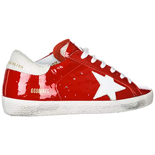 Pelle Sneakers In Superstar Golden Donna Goose Rosso Nuove Scarpe qw4Pav