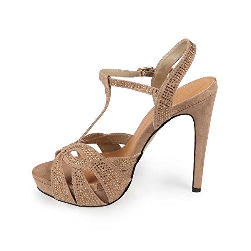 La Modeuse - Sandalias de Vestir Mujer marrón - marrón